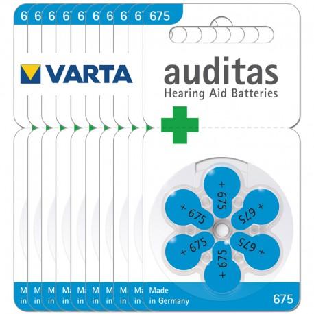 Batérie pre naslúchadlo A675, 1,4 V - 60 ks